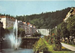 B29675 Karlovy Vary view of the spa across the river czech republic