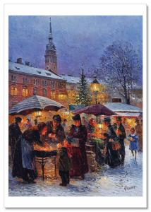 On the eve of Christmas KIDS Woman by Detlev Nitschke Russian Modern Postcard