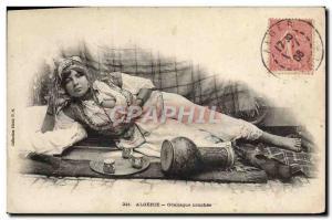 Old Postcard Female Nude erotic Algeria Odalisque couchee