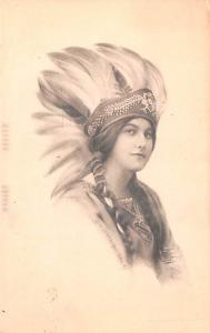 Indian Woman, Schlesinger Bros 1913 light markings on front