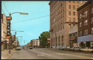 Ohio ELYRIA Downtown with 1960 cars and Store Fronts Postally Used - Chrome