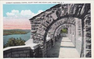 New York Penn Yann Garrett Memorial Chapel Bluff Point and Keuka Lake