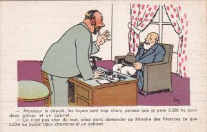 Political Comic postcard , France ,  10-30s # 9