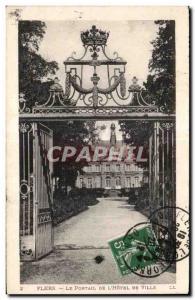 Old Postcard Flers Portal De L Hotel De Ville