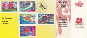 Olympic Stamps , Canada, 1992 ; Miracle Whip Coupons attached