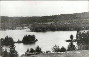 South Woodbury VT Lake Real Photo Postcard #1