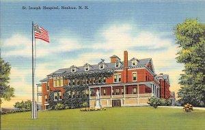 Hospital Post Card St Joseph Hospital Nashua, New Hampshire, USA Postcard Unused