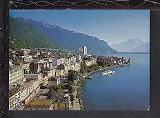 Panorama Montreux,Switzerland Postcard BIN