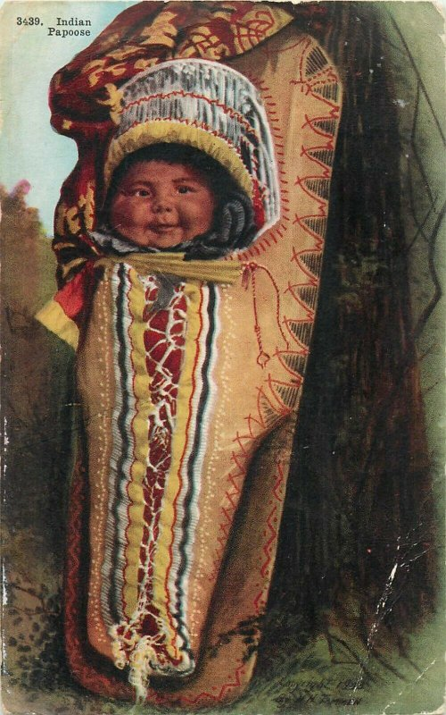 American Native Indian Papoose ethnic baby