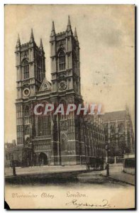 Old Postcard London Westminster Albbey