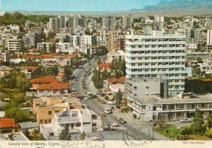 Postcard Cyprus Nicosia panoramic sight