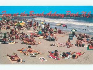 Unused Pre-1980 BEACH SCENE Asbury Park New Jersey NJ d7148-13
