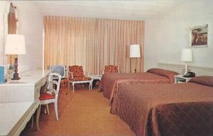 Interior,  Motel Fontainebleau, Montreal,  Canada,  40-60s