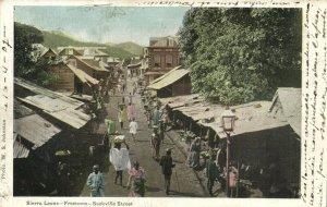 PC CPA SIERRA LEONE, FREETOWN, SACKVILLE STREET, Vintage Postcard (b24761)