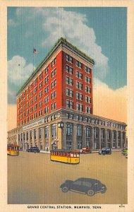 Tennessee Train Postcard Grand Central Station Memphis, Tenn., USA Unused