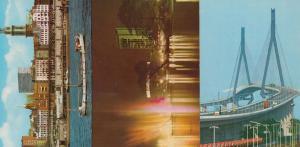 Hamburg St Petri Jacobi City Hall Night Illuminations Aerial 4 German Postcard s