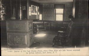 Port Henry NY Capt Hendee House Interior c1905 Postcard