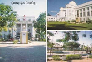 CEBU CITY, Philippines; City Hall, Cebu Capitol, Fuente Osmena, 50-70s