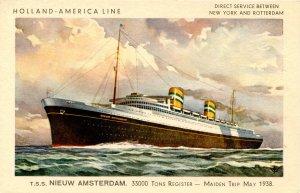 Holland-America Line - TSS Niew Amsterdam