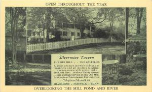 Vintage Postcard Silvermine Tavern Norwalk CT Connecticut Fairfield County