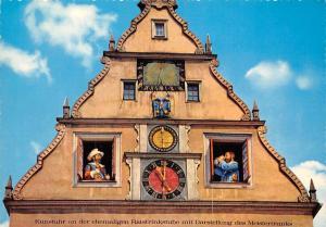 Rothenburg ob der Tauber Kunstuhr am Marktplatz