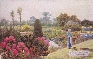 A Hampshire Garden Near Brockenhurst (Hampshire), England, UK, 1910-1920s