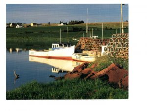 French River, Lobster Trapes, Prince Edward Island, Large 5 X 7 inch Postcard