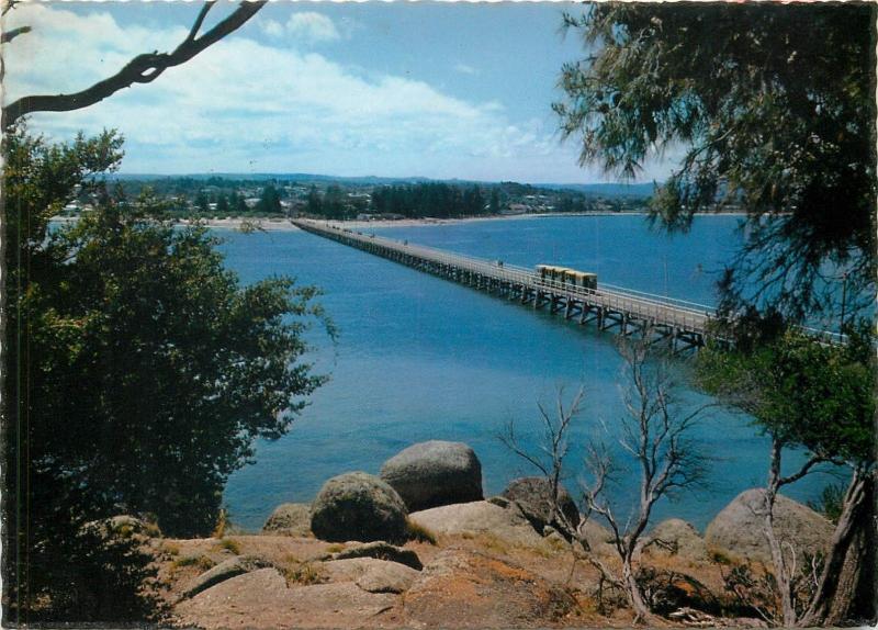 Granite Island with Victor Harbor South Australia causeway