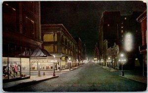 St Paul, Minnesota Postcard SIXTH STREET AT NIGHT V.O. Hammon c1910s Unused