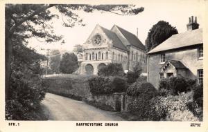 Vintage c1955 REAL PHOTO Postcard BARFREYSTONE St Nicholas Church Kent