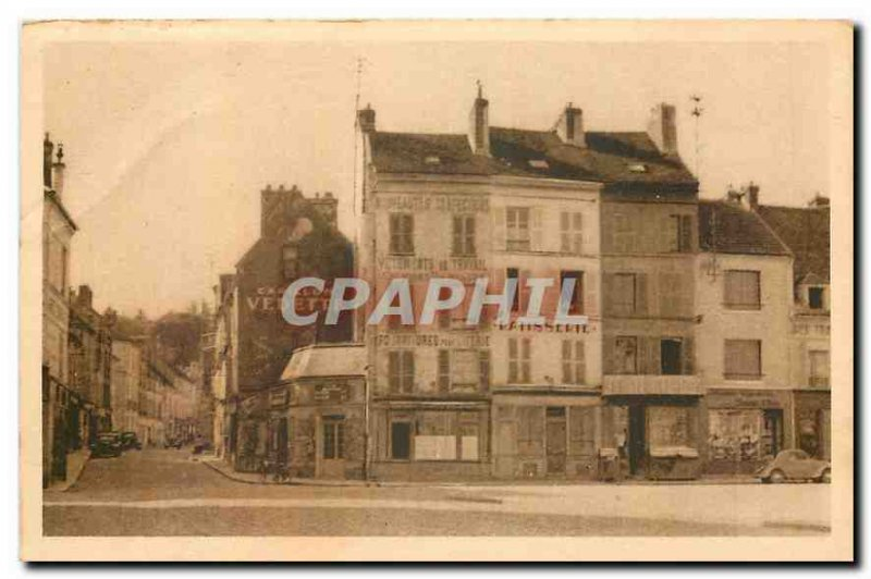 Old Postcard La Ferte sous Jouarre Place and Rue de la Gare Chime Patisserie ...