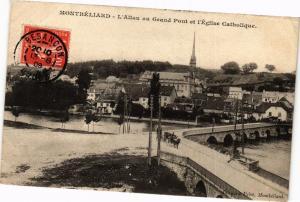 CPA MONTBÉLIARD - L'Allau au Grand Pont et l'Église Catholique (183060)