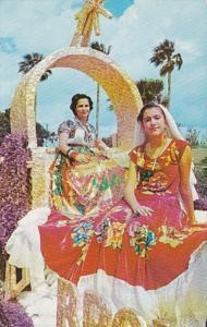 Texas McAllen Ladies Wearing Colorful Costumes Of Latin America