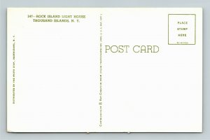 Thousand Islands NY-New York, Rock Island Lighthouse, Vintage Chrome Postcard
