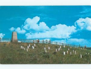 Pre-1980 CEMETERY GRAVEYARD Custer National Monument North Dakota ND E3076
