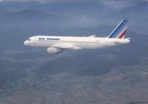Air France, Airbus A 320 in flight, 50-70s