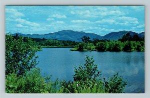 Sugar Hills NH- New Hampshire Mt Lafayette Cannon Mt Coffin Pond Chrome Postcard