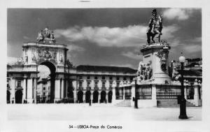 Portugal Lisboa Prcada do Comercio Statues Monument Postcard