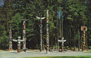 Canada Indian Totem Poles Stanley Park Vancouver British Columbia