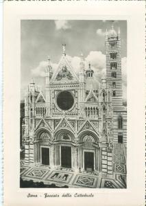 Italy, Siena, Facciata della Cattedrale, 1951 used real photo Postcard