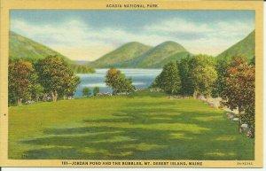Mt. Desert Island, Maine, Jordan Pond and The Bubbles
