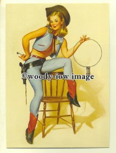 su2001 - Young Woman - Pin Up by artist Gil Elvgren - modern art postcard