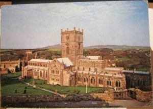 Wales St Davids Cathedral view from South East - unposted
