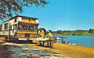 Sesquicentennial State Park SC Motor Home Luxury Camping Postcard