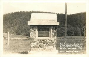 Antioch WV~Nancy Hanks Birthplace~Cabin Tablet~Lincoln's Mother~1930 RPPC