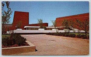 Champaign-Urbana IL~University of Illinois~Krannert Center~Lobby Terrace~1970s