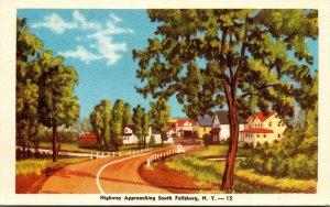 New York Highway Approaching South Fallsburg Dexter Press