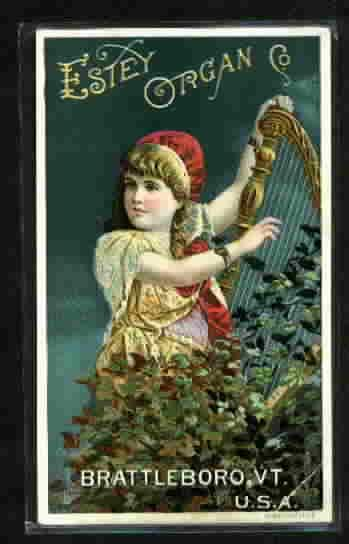 MUSIC ADVERTISING TRADECARD-ESTEY ORGAN CO.-BRATTLEBORO, VT.