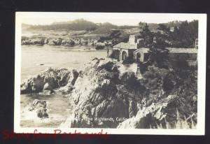 RPPC THE HIGHLANDS CALIFORNIA THE JAMES RESIDENCE HOUSE REAL PHOTO POSTCARD