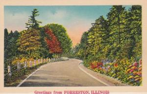 Illinois Greetings From Forreston